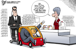Trump and the cashier by Bruce Plante