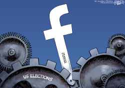 Facebook and Russia by Nate Beeler