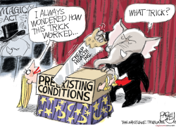 Cheap Insurance Trick by Pat Bagley