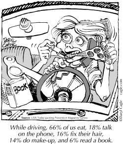 TRUE - Do While Driving by Daryl Cagle