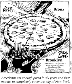 TRUE - New York Pizza by Daryl Cagle