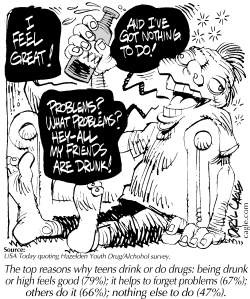 TRUE - Why Teens Drink by Daryl Cagle