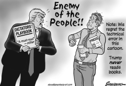 Enemy of the People bw by Steve Greenberg