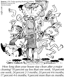 TRUE - House Cleaning by Daryl Cagle
