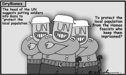 UN Soldiers in Gaza by Yaakov Kirschen