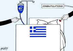 end of the Greek bailout by Rainer Hachfeld