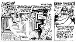 PUZZLE Amazing Wedding Rings Down the Drain by Daryl Cagle