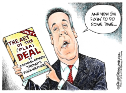 Cohen pleads guilty by Dave Granlund