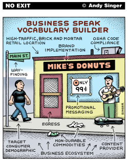 Business Speak Vocabulary Builder color version by Andy Singer