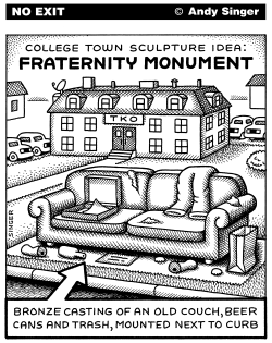 Fraternity Monument by Andy Singer