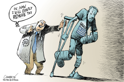 Greece emerges from bailout by Patrick Chappatte