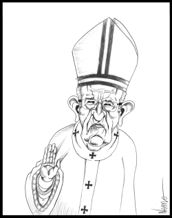 Grumpy Pope Francis by Jose Neves