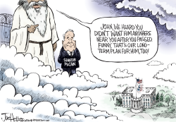 McCain Half Mast by Joe Heller