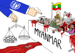 Myanmar generals accused of Genocide by Stephane Peray