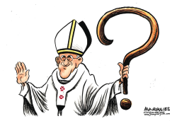 Pope Francis and the Catholic Church scandal color by Jimmy Margulies
