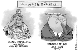 Trump McCain Death by Rick McKee