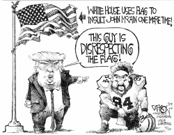Disrespecting the flag by John Darkow