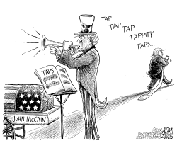 Taps Trump and McCain by Adam Zyglis