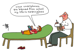 smartphone and school by Arend Van Dam