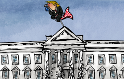Collapse of the White House by Kap