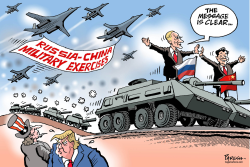 Russia-china military drill by Paresh Nath