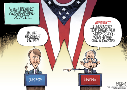 LOCAL OH Cordray vs DeWine by Nate Beeler