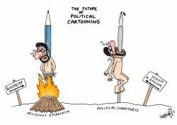 Future of political cartooning by Stephane Peray