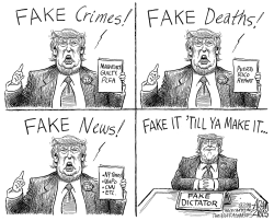 The fake out by Adam Zyglis