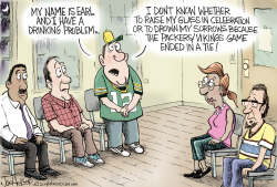 Packer Vikings Tie by Joe Heller