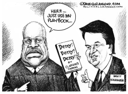 Brett Kavanaugh and Clarence Thomas by Dave Granlund