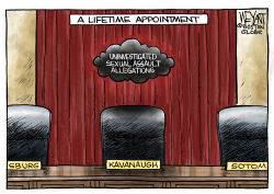 Kavanaugh's Cloud by Christopher Weyant