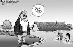 Trumps Flood Emphaty by Bruce Plante
