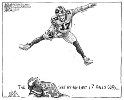 Buffalo Bills Air Allen by Adam Zyglis