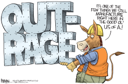 Democrat Manufactured Outrage by Rick McKee
