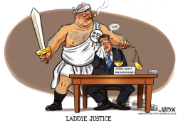 Laddie Justice Is Not Blind by RJ Matson