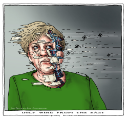 ugly wind from the east by Joep Bertrams
