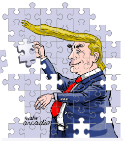 Trump the puzzle/Trump el rompecabezas by Arcadio Esquivel