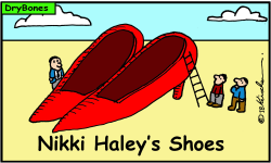 Nikki Haley's Shoes by Yaakov Kirschen