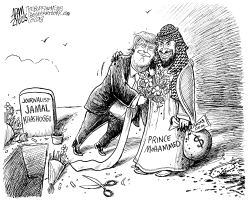 Jamal Khashoggi death by Adam Zyglis