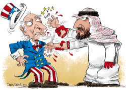 Mohammad bin Salman and Uncle Sam by Daryl Cagle