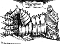 The Saudi Fistfight by Kevin Siers