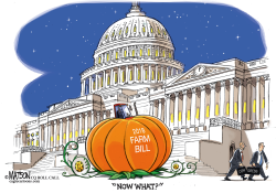 Farm Bill Turns Into Pumpkin by RJ Matson