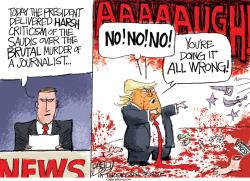 Critiquing the Saudis by Pat Bagley