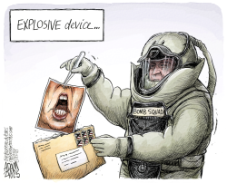 Suspicious package by Adam Zyglis
