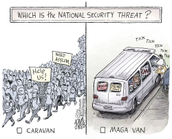 MAGA van by Adam Zyglis