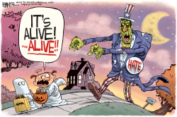 Halloween Hate by Rick McKee