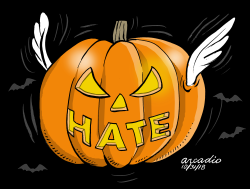 Pumpkin of hatred by Arcadio Esquivel