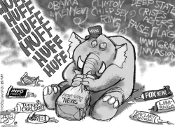 Huffing News by Pat Bagley
