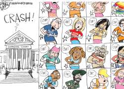 Feeling Her Pain - Ruth Bader Ginsburg by Pat Bagley
