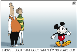 MICKEY MOUSE AT 90 by Randy Bish